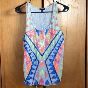 Sequined Express tank
